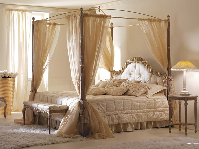 Canopy bed curtains queen